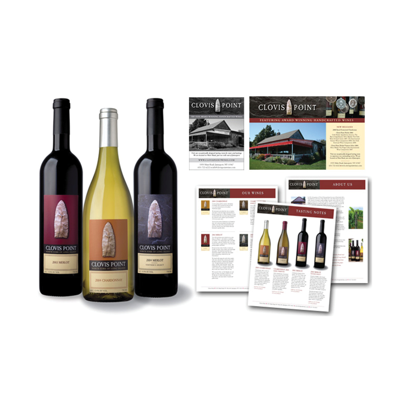 Clovis Point Winery Packaging, Ads & Materials