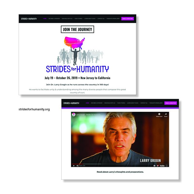 Strides for Humanity Website